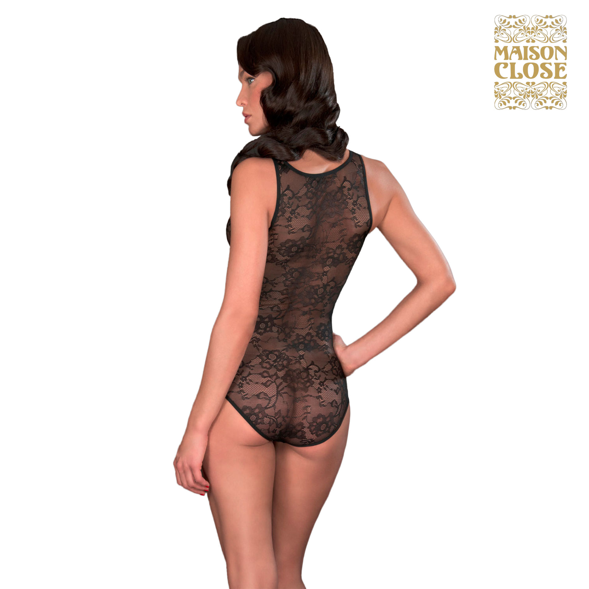 Body villa des lys noir taille xl maison close ebay - Vente privee maison close ...